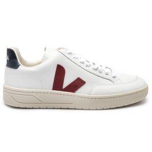 Veja V12 Leather Sneakers in White Marsala 41